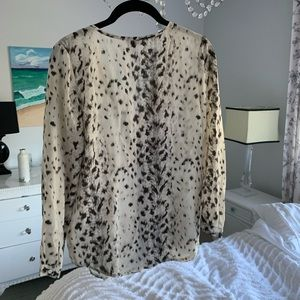 Joie animal print silk blouse sz S